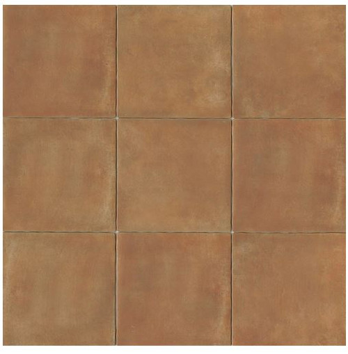 Terra Cotta Porcelain Tile 14x14 Matte Finish Cotto Field Tile Siena ( Caramel )