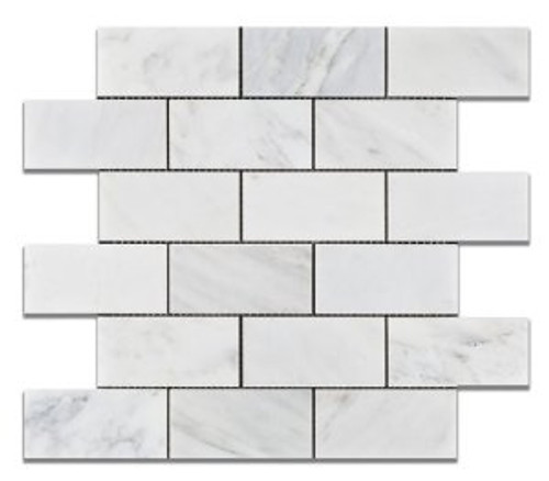 Ocean White 2x4 Honed Mosaic