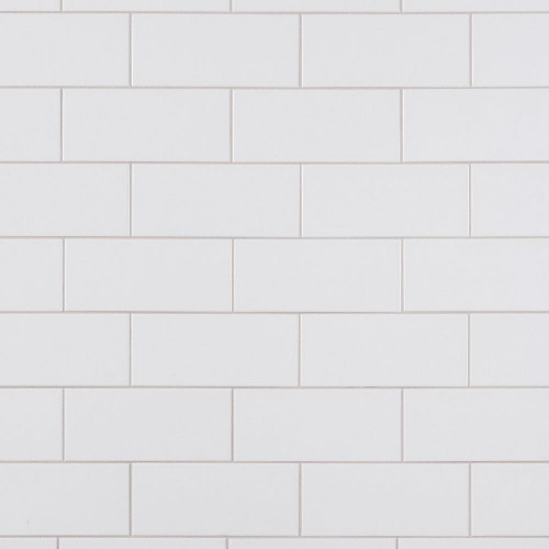 Ice White Matte 4x10 Wall Tile