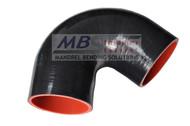 5ply Hi-Performance Black Silicone Hose (Coupler) 135* Elbow