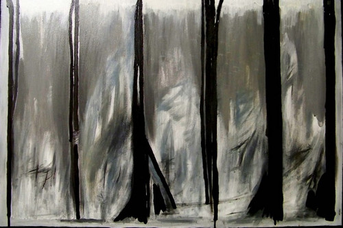 """'Ice Storm by Artist Justin McGonigle, Acrylic on canvas, 24 1/2"""" x 37"""""""