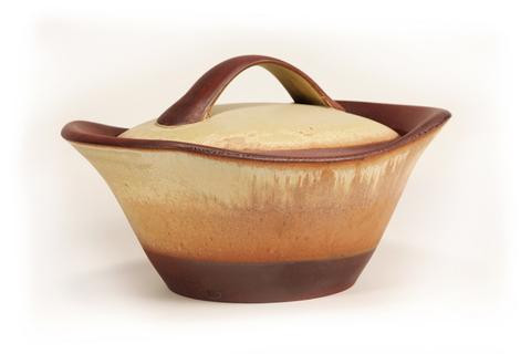 Cook on Clay 4 Quart Casserole, Tuscan Gold