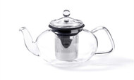 For Tea's Sake, 33oz. Glass Teapot w/ Stainless Steel Infuser