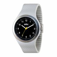 Braun - Men's BN-111-BKLGYG Sports Watch, Black dial, Light Grey Silicon Band