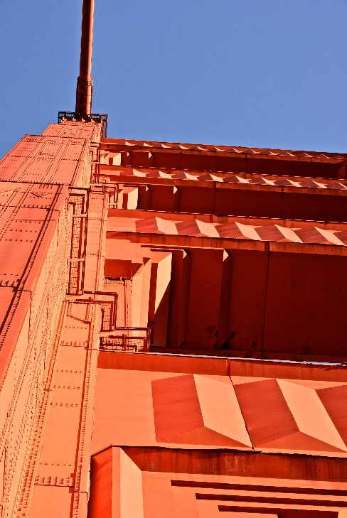 Golden Gate Bridge Forced Perspective by Glenn Hathaway. Digital Photo on Canvas.