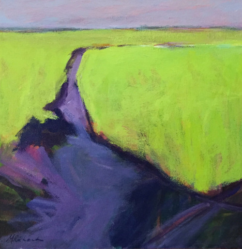 'The Shape of Low Tide' by Artist Peggy Richard, Acrylic on Canvas