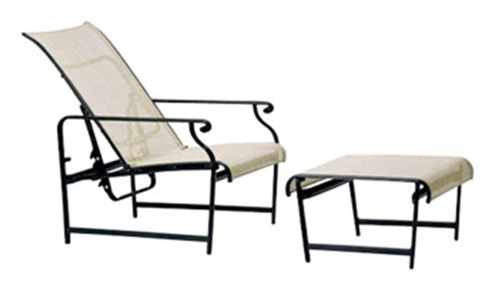 Aegean Sling Adjustable Lounge Chair and ottoman