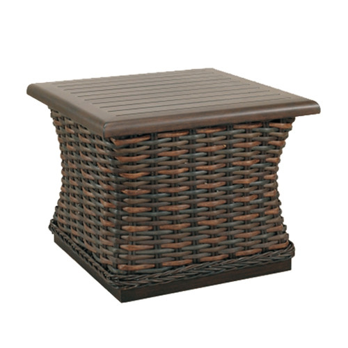 Catalina 24in Woven Square End Table