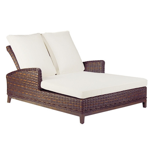 Double chaise lounge chair image of outdoor lounge chairs for Backless double ended chaise longue