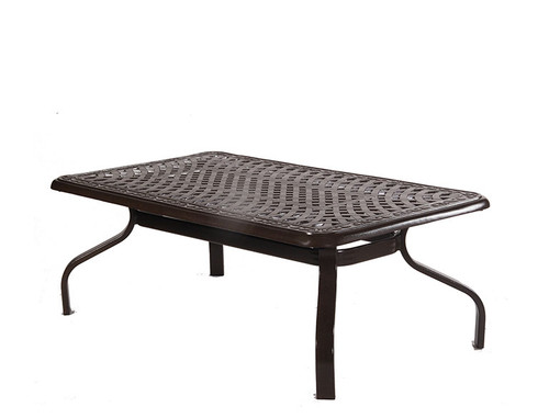 Waverly 76in Expandable Aluminum Dining Table by Alu Mont