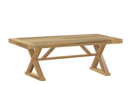 Modena Teak 108in Rectangular Dining Table