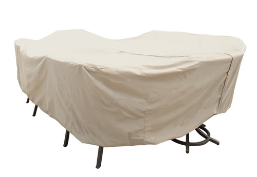 Table & Chairs Cover - XL Oval Table or Rectangle with Umbrella Hole