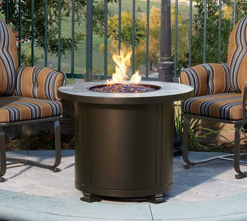 Santorini 30in Round Chat Height Fire Pit