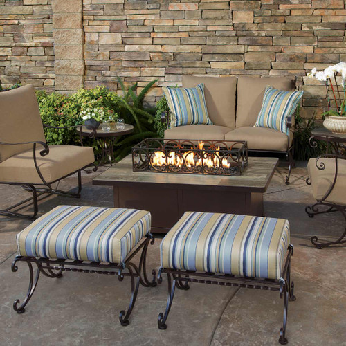 Santorini 30in x 50in Occasional Height Fire Pit