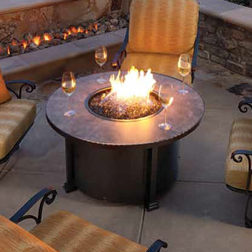 Santorini 42in Round Chat Height Fire Pit