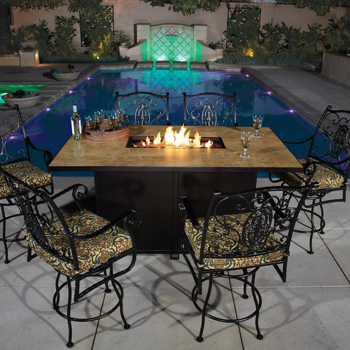 Santorini 42in x 72in Counter Height Fire Pit
