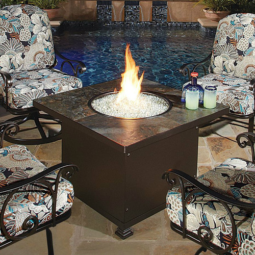 Santorini 48in Square Chat Height Fire Pit