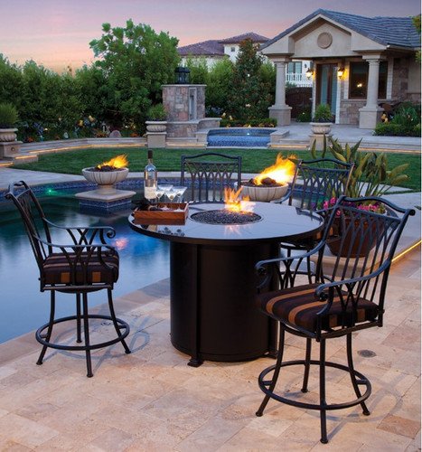 Santorini 54in Round Counter Height Fire Pit