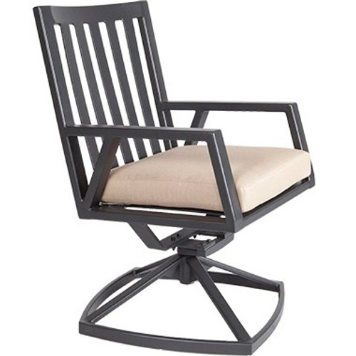 Aris Swivel Rocker Dining Arm Chair