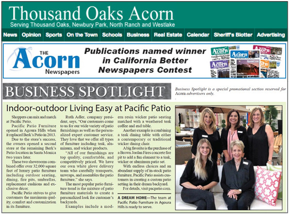 """Acorn"" Business Spotlight on Pacific Patio Furniture"