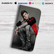 Adam Lambert Tattoo Leather Wallet Samsung Galaxy S6 Case