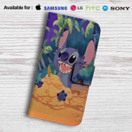 Disney Stitch Leather Wallet Samsung Galaxy S6 Case