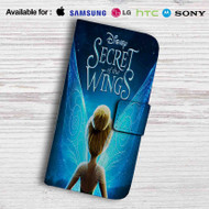 Disney Tinkerbell Wings Leather Wallet Samsung Galaxy S6 Case