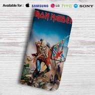 Iron Maiden Trooper Leather Wallet Samsung Galaxy S6 Case
