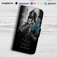 League of Legends Yasuo Leather Wallet Samsung Galaxy S6 Case