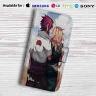 Sasuke Uchiha Sakura Haruno Naruto Shippuden Leather Wallet Samsung Galaxy S6 Case