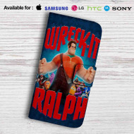 Wreck it Ralph Leather Wallet Samsung Galaxy S6 Case