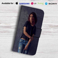 Alessia Cara Photo Leather Wallet Samsung Galaxy S7 Case