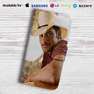 Brad Paisley Leather Wallet Samsung Galaxy S7 Case
