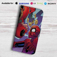 Deadpool Spiderman Leather Wallet Samsung Galaxy S7 Case