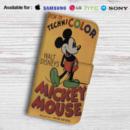 Disney Mickey Mouse Technicolor Leather Wallet Samsung Galaxy S7 Case