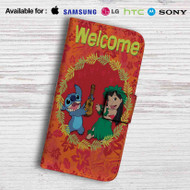 Disney Lilo and Stitch Welcome Leather Wallet Samsung Galaxy S7 Case