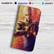 One Punch Man Genos Leather Wallet Samsung Galaxy S7 Case