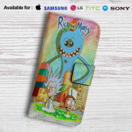 Rick and Morty Mr Meeseeks Monster Leather Wallet Samsung Galaxy S7 Case