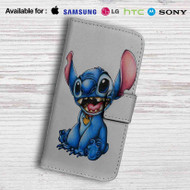 Stitch Disney Leather Wallet Samsung Galaxy S7 Case