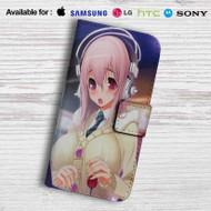 Super Sonico Leather Wallet Samsung Galaxy S7 Case