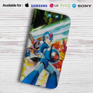 Mega Man Maverick Hunter X Leather Wallet Samsung Galaxy Note 5 Case