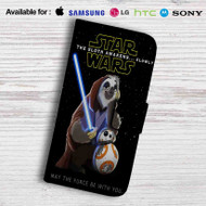 Star Wars The Sloth Awakens Slowly Leather Wallet Samsung Galaxy Note 5 Case