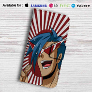 Kamina Gurren Lagann Leather Wallet Samsung Galaxy Note 6 Case