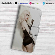 Lady Gaga Leather Wallet Samsung Galaxy Note 6 Case