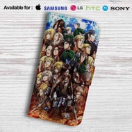 Attack on Titan Shingeki no Kyojin Characters Leather Wallet LG G2 Case
