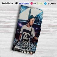 Avicii DJ Leather Wallet LG G2 Case