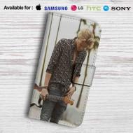 Cody simpson Flower Leather Wallet LG G2 Case