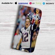 Tom Brady New England Patriots Leather Wallet LG G2 Case