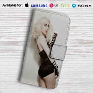 Lady Gaga Leather Wallet LG G2 G3 G4 Case