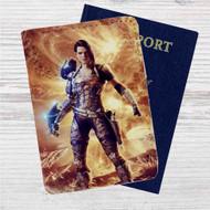 Bombshell Custom Leather Passport Wallet Case Cover